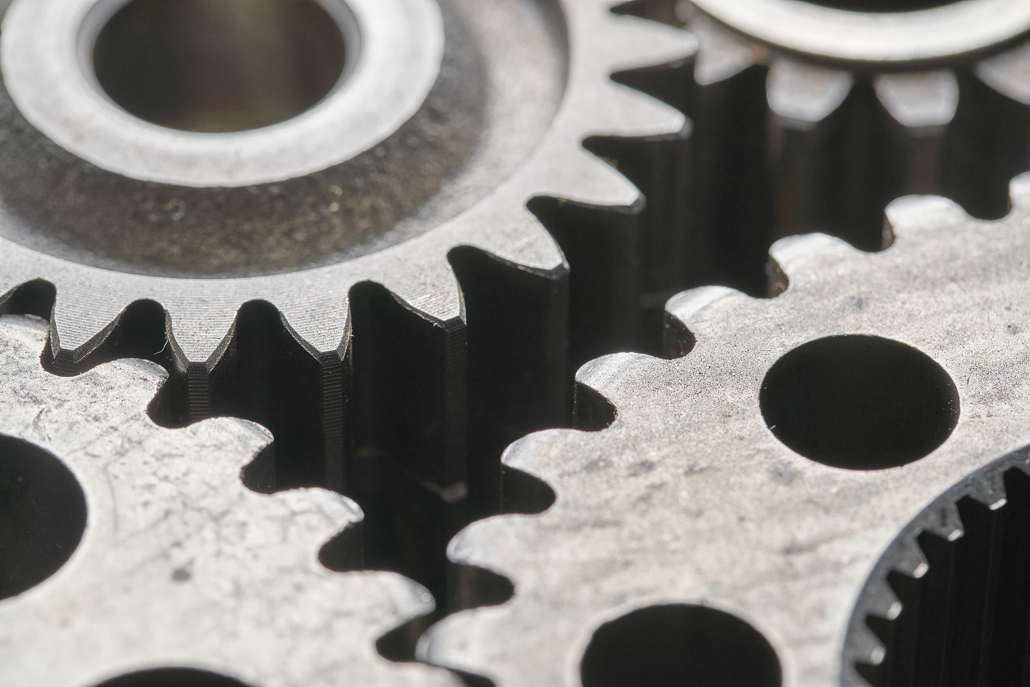 closeup image of gears
